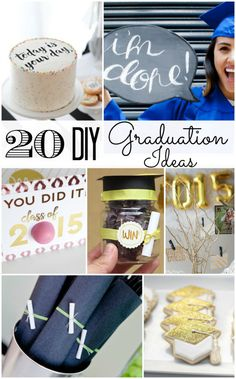 20 DIY Graduation Ideas! Fun party, photography and gift ideas.