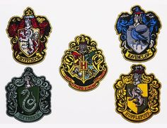 Set of Deluxe House Patches + Hogwarts Patch. Logo:Harry Potter Patch Collection, Full-Size. Quality Embroidered Iron-On Patch Set. Pay One Postage Fee For 1 Patch or 100! Description: Collection.