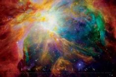 Imagination-Nebula-Motivational, Photography Poster Print, 24 by 36-Inch