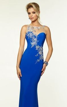 Beaded Jersey Gown by Paparazzi by Mori Lee 97098