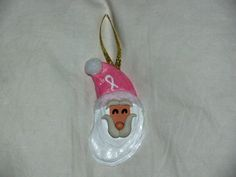 Breast Cancer Awareness  Oyster Shell Santa by OysterShellSantas, $9.00