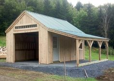 My Shed Plans - One Bay Garage - Exterior with overhang. More - Now You Can Build ANY Shed In A Weekend Even If You've Zero Woodworking Experience! Design Patio, Design Garage, Detached Garage Designs, Wall Design, Garden Design, Plan Garage, Garage Shed, Garage Ideas, Small Garage