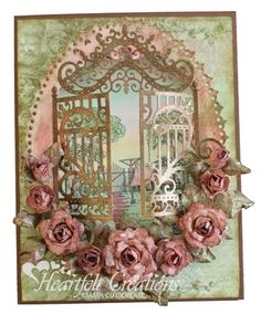 Heartfelt Creations | Rose Adorned Ornate Gate