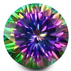Topaz 10270: 7.99 Ct Aaa+ Mind-Boggling Round Shape (12 X 12 Mm) Mystic Blue Topaz Gemstone BUY IT NOW ONLY: $44.99