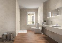 ¡El encanto de este #baño reside en el material utilizado! Combina Acero y Fronda  The charm of this #bathroom lies in the materials used! Combine Acero and Fronda.  #PamesaCerámica #decoración #interiorismo #decoration #interiordesign #azulejo #tiles