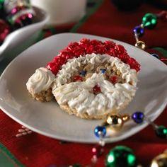 Santa Claus Treats™ Rice Krispy Treats Recipe, Rice Crispy Treats, Krispie Treats, Rice Krispies, Christmas Desserts, Holiday Treats, Christmas Treats, Christmas Recipes, Christmas Eve