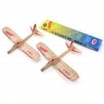 JetFire Balsa Wood Glider Plane Old Fashioned Toy Twin Pack