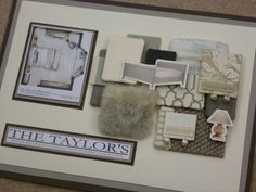 Client bedroom concept board by jcmdesign. Photo credit; jcmdesign.