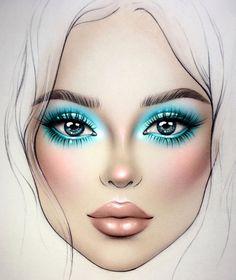 Mar 2020 - Browse the top-ranked list of Colorful Makeup. See more ideas about Makeup, Colorful makeup and Makeup inspiration. Lime Crime Makeup, Wedding Day Makeup, Bridal Makeup Looks, Makeup Inspo, Makeup Inspiration, Makeup Ideas, Mac Face Charts, Makeup Illustration, Makeup Face Charts