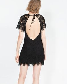 Image 4 of SHORT LACE DRESS from Zara
