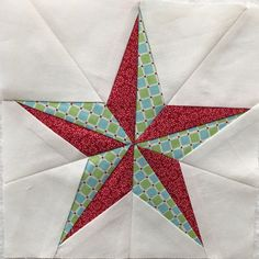 Christmas Star by Threadbear Creations to add to my Splendid Sampler Quilt