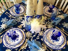 Smashing Plates Tablescapes: Winter Blues