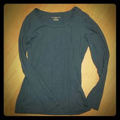 Ann Taylor long sleeve top Good condition used Ann Taylor top. Dark blue Ann Taylor Tops