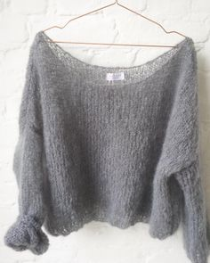 soft mohair pullover by Patkas Berlin hand knitted