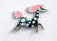 Moomin wooden magnet Primadonna's horse Moomin, Ikea, Tableware, Gifts, Illustrations, Inspiration, Bujo, Bullet, Gift Ideas