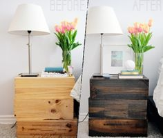 DIY Rustic Nightstand Of Old Wine Boxes | Shelterness