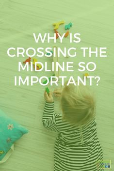What is crossing the midline and why is crossing the midline so important in child development? Find out, plus get a free handout with 20 activity ideas! Gross Motor Activities, Gross Motor Skills, Sensory Activities, Therapy Activities, Preschool Activities, What Is Cross, Crossing Midline, Pediatric Ot, Yoga For Kids