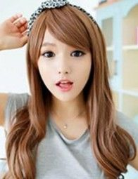 Spring new Japan and Korea Oblique bangs Lady temperament wig Sweet young girl Sexy curly hair wigs