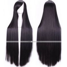 efff7f917a9aa D17 Synthetic Black Women Lady Long Straight Hair Wig Natural Full Wig  Cosplay 809620949979 eBay