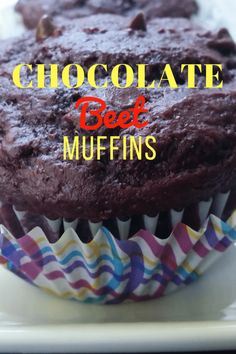 Chocolate Beet Muffins #Choctoberfest | Hardly A Goddess