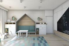 (Dom w okolicy Lublińca) Dom jednorodzinny 7 - Średni pokój dziecka dla chłopca dla dziewczynki dla rodzeństwa dla ucznia dla nastolatka, styl nowoczesny - zdjęcie od BAGUA Pracownia Architektury Wnętrz