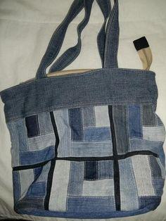 Цена: 80 грн. - Вместительная джинсовая сумка, #10542464, Цвета: Синий, Размер: One size. Купить в Шафе недорого