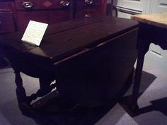 1690-1695 Gate-Leg Table - This table was owned by Gabriel Manigault at Rice Hope plantation. Made from cypress and is characteristic of a traditional Huguenot style.