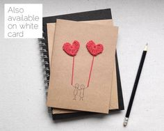 Handmade anniversary card I love you card by MollycatCraftCo