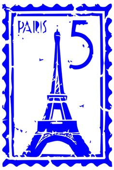 French Stencil  Paris Stamp  Mylar Stencil  por BrownBagStencilCo