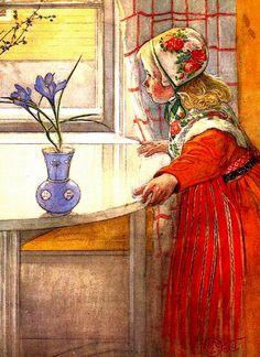 Carl Larsson (1853 - 1919), illustrateur, peintre, aquarelliste, graveur, lithographe et décorateur d'intérieur d'origine suédoise.   D'ori...