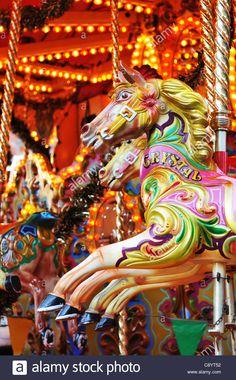 Detail of carousel horse Stock Photo