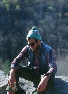 Aaah yes, this is the life. Sittin' on a rock with a can of cold beer. Contemplating your next move. #men #lifestyle