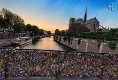 Notre-Dame and Love Bridge