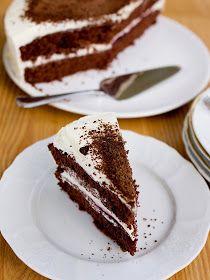 Pradobroty: Kakaový půl-dort s lehkým mascarpone krémem