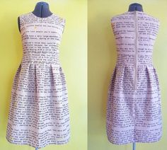 This Dress Printed With The First Chapter of Harry Potter Is Pure Genius
