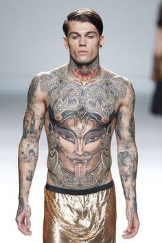 101 Cool Full Body Tattoo design for Men and Women best body tattoos - Tattoos And Body Art Body Tattoo Design, Full Body Tattoo, Tattoo Designs Men, Hot Tattoos, Body Art Tattoos, Tattoos For Guys, Time Tattoos, Sleeve Tattoos, Tattoos For Women