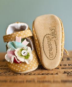 Another great find on #zulily! Gracious May Yellow & Ivory Honey Dot Confetti Shoes by Gracious May #zulilyfinds