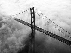 The Golden Gate Bridge and fog during sunrise. 9/11/06 {Frederic Larson/The Chronicle } SFC