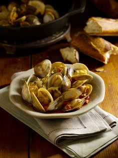 Clams with Chorizo, Fish Without a Doubt: The Cook's Essential Companion, Rick Moonen (Author), Roy Finamore (Author), www.amazon.com/..., Ben Fink Photographer/Director, benfinkphoto.com, ©Ben Fink