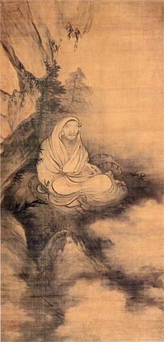 Muxi, Arhat Meditating and Threatening Snake, Southern Song dynasty, (106.1 x…