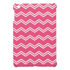 Pink Double Chevrons iPad Mini Cases