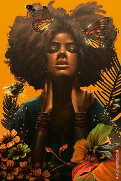 Hair art illustration inspiration new Ideas Black Love Art, Black Girl Art, Art Girl, African American Art, African Art, African Culture, Tribal African, African Animals, African Safari