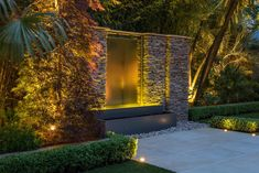 Feel free to browse through our Great Water Fountain Designs For Home Landscape and we're sure you'll be building yours in no time! Contemporary Garden Design, Modern Landscape Design, Garden Landscape Design, Modern Landscaping, Backyard Landscaping, Backyard Ideas, Water Fountain Design, Garden Water Fountains, Water Garden
