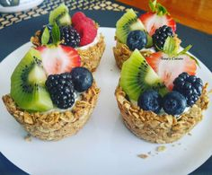 How to make Oatmeal Cups Dessert Cups, Dessert Recipes, Delicious Desserts, Yummy Food, Oatmeal Cups, Anna, Acai Bowl, Tapas, Cheesecake