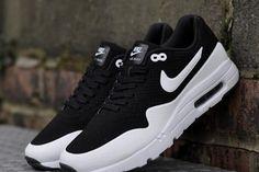 buy popular 78c14 81aac Womens Mens Nike Air Max 1 Ultra Moire Black White Shoes Скидка На Nike,  Обувной