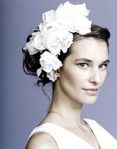 Rachel Trevor Morgan Millinery - Bridal R1513 Taffeta rose alice band with bow