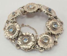 Georg Jensen Moon Stone Sterling Bracelet 36 Silver | eBay