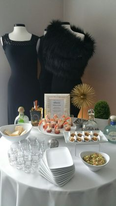 50th birthday celebration! Tequila station: Shot glass collosal mexican cocktail, crab and avocado dip on asian spoons,  Mexican guacamole, assorted tequilas, and shotglasses!