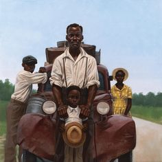 PROMISED LAND  A image from the book Heart : The Story of America and African Americans by author/illustrator Kadir Nelson.