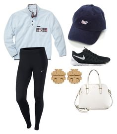 """""""comfy"""" by ansleighrose023 on Polyvore featuring NIKE, Tory Burch and Kate Spade"""